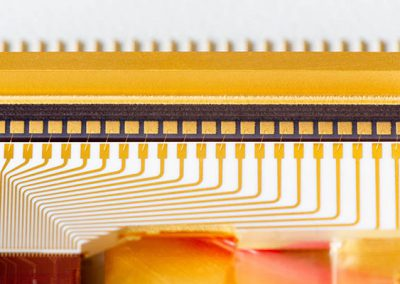 wire bonds on PIC-enabled gold box photonic module