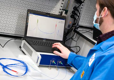 device for optical backscatter reflectometry (OBR)