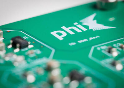 printed circuit board (PCB) designed by PHIX photonics assembly