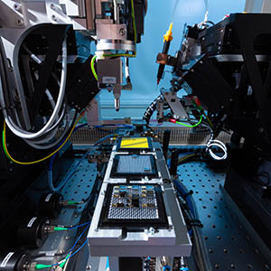 PIC hybrid assembly on automated machine