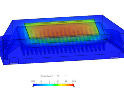 thermal simulation of optoelectronic module
